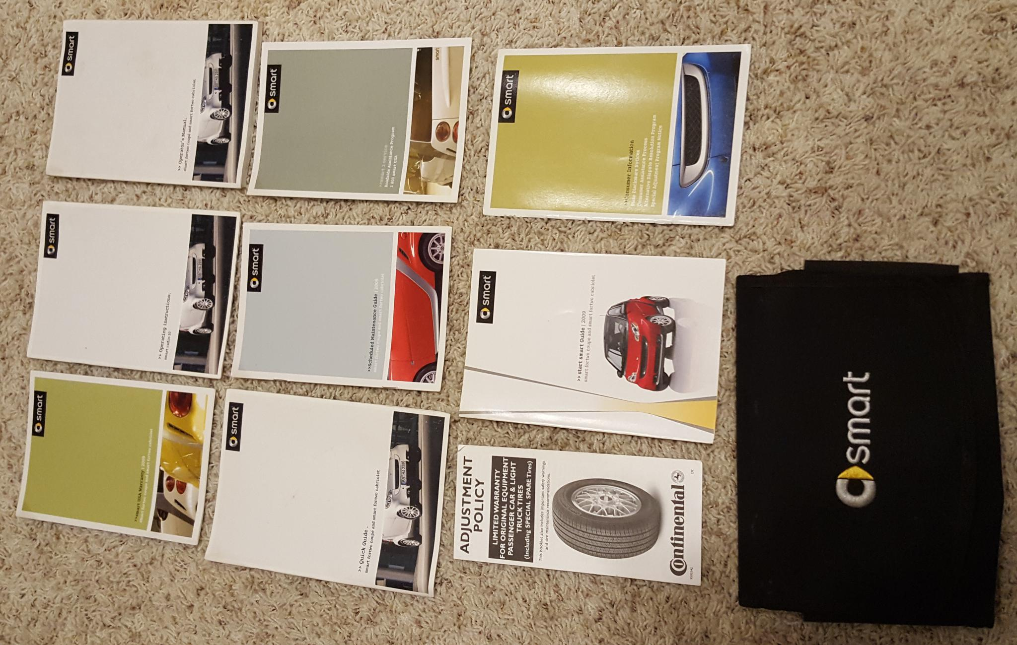 for sale 2009 owners manual packet smart car forums rh smartcarofamerica com 2009 smart car fortwo owners manual 2016 Smart Fortwo Interior