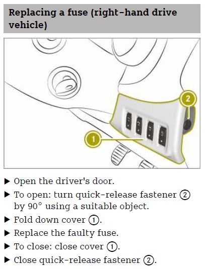 Accessing the glove compartment fuse box - Smart Car Forums