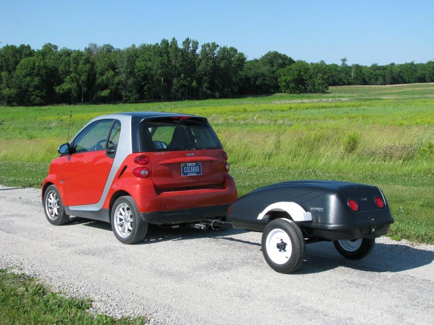 car topper turned trailer smart car forums. Black Bedroom Furniture Sets. Home Design Ideas