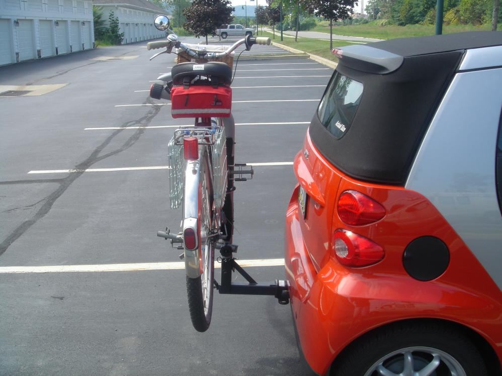 Receiver Hitch Bike Rack >> 2 Hitch Receiver Bike Rack Smart Car Forums