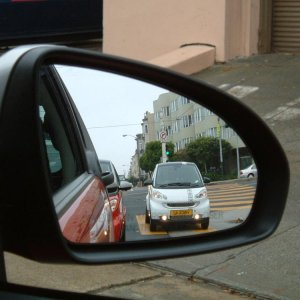 View From Passenger Mirror