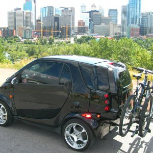 My Smart Car Universe Trailer Hitch And Bike Rack