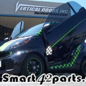 Smart Car 451 With Vertical Lambo Doors