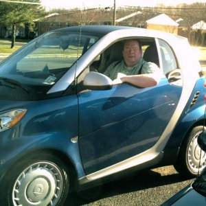My Dad And Me In My Smart Fortwo Pure