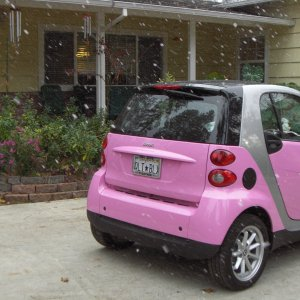 My Pink Smart, Getting Snowflaked In Paradise!