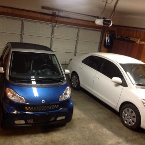 My 08 Smart And Wife's 2012 Toyota Yaris