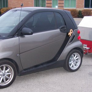 My 2010 Smart With Scoota Trailer