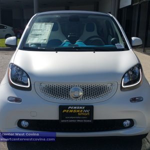 Moon White Smart Fortwo (453)