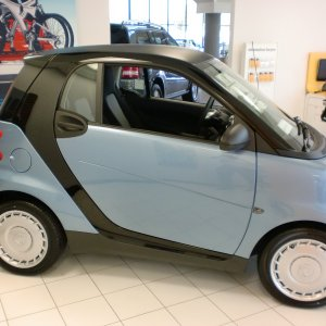 2011 Light Blue Metallic Pure With Black Tridion Inside Smart Center West Covina