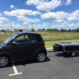 My 2014 Smart Fortwo Passion And A Time Out Easy Camper Trailer.