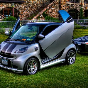 Hdr Photo Of Smart Car