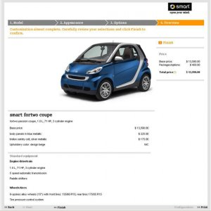 Confirmation at Mysmartfortwo.com