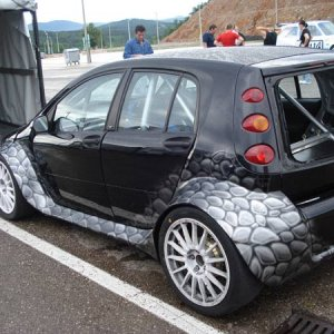 Smart Forfour Race Car With 600 Horsepower
