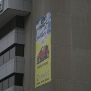 Smart Car Banner In Tysons Corner, Va