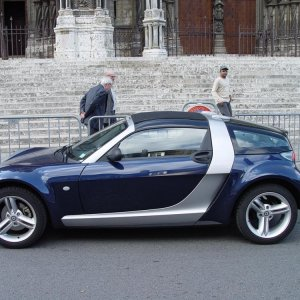 Roadster At Chartres Cathedral